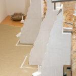 Quinta, a site specific installation in Botticino Classico marble