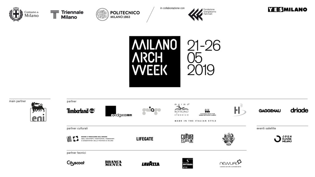 THE CONSORTIUM IS PARTNER OF MILANO ARCH WEEK 2019